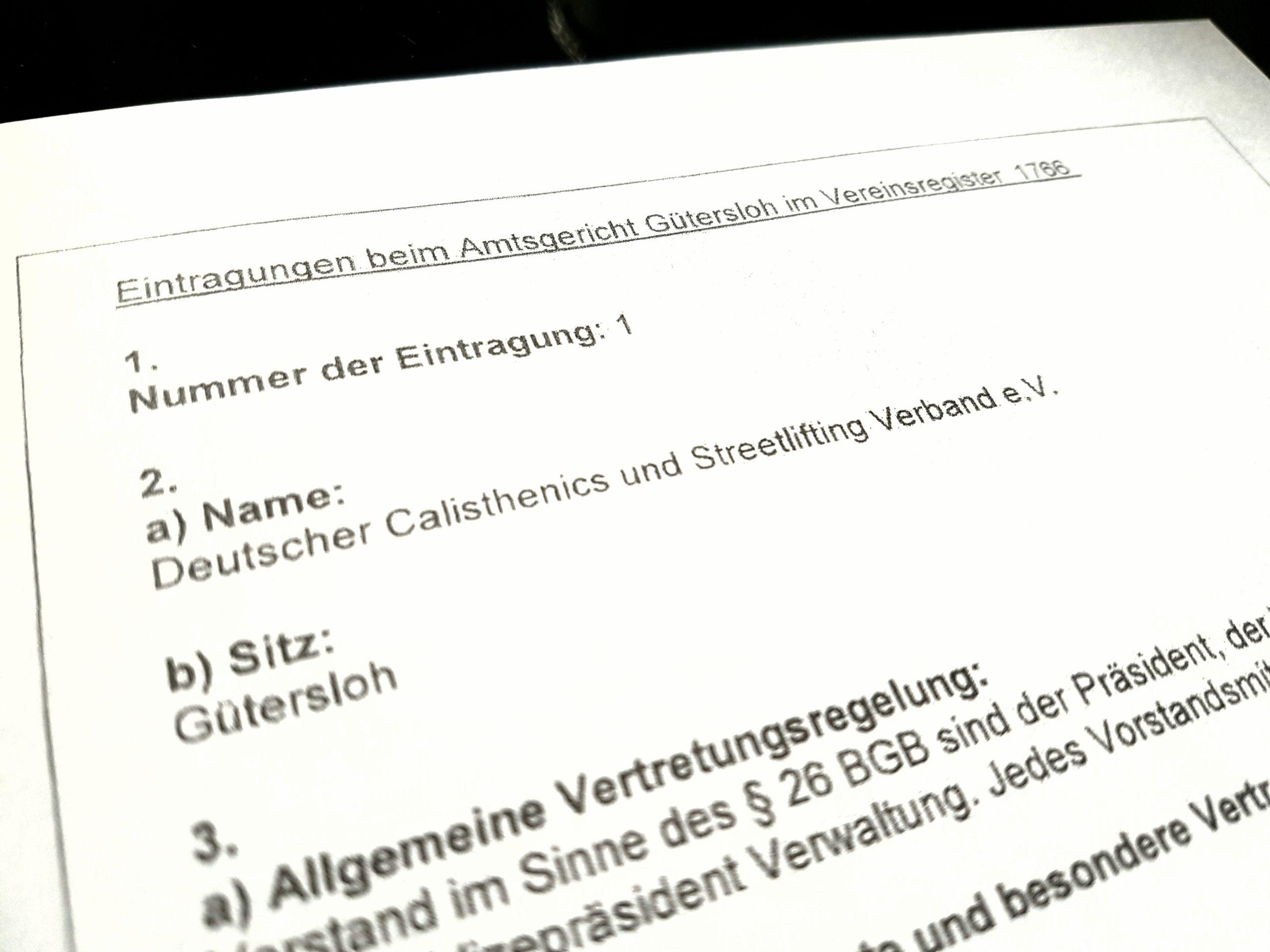 Rechtsform offiziell bestätigt – DCSV ist jetzt rechtsfähig!