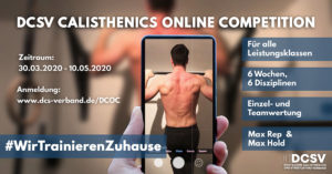 DCSV Calisthenics Online Competition während Covid-19