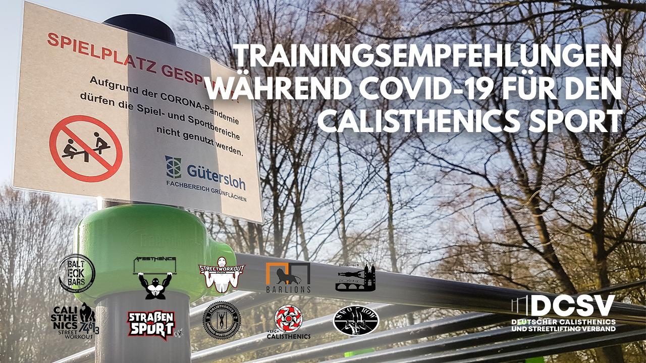 Trainingsempfehlungen während Covid-19 für den Calisthenics-Sport