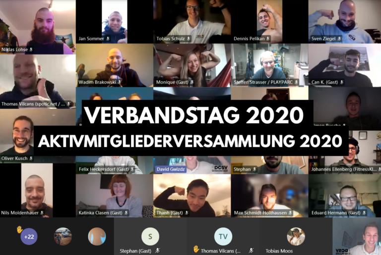 Screenshot vom 1. DCSV Verbandstag 2020