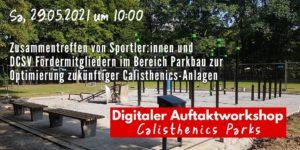 Read more about the article Sportler:innen und Calisthenics Parkhersteller treffen im DCSV Workshop zusammen
