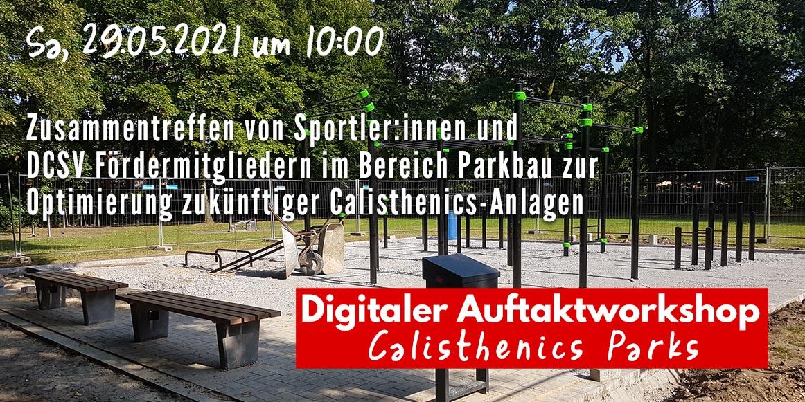 Sportler:innen und Calisthenics Parkhersteller treffen im DCSV Workshop zusammen