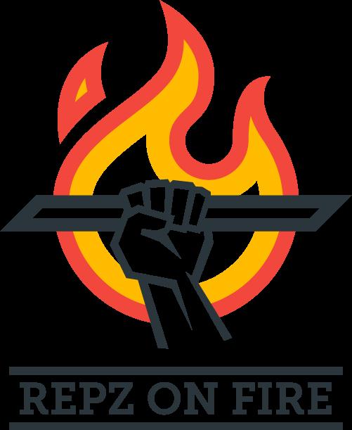 Repz on Fire Logo